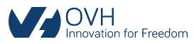 Логотип хостинговой компании OVH.com
