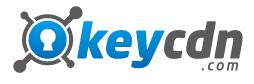 Логотип хостинговой компании KeyCDN.com