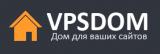 Логотип хостинговой компании VpsDom
